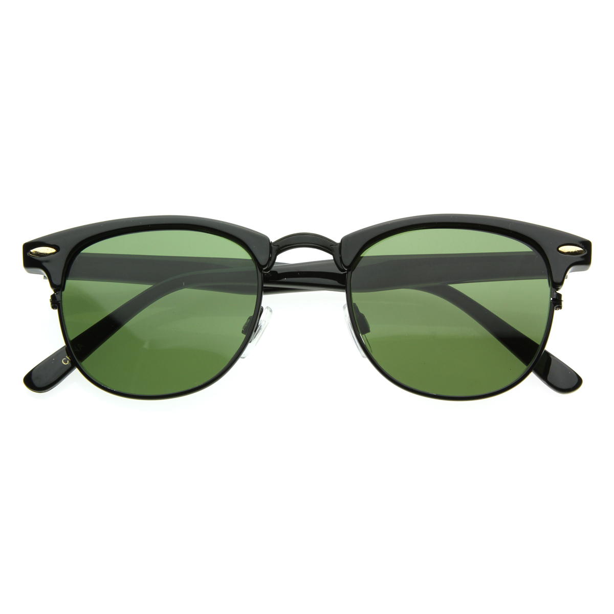 Rimless Glasses Vs Rimmed : Vintage Half Frame Semi-Rimless Horn Rimmed Style Classic ...