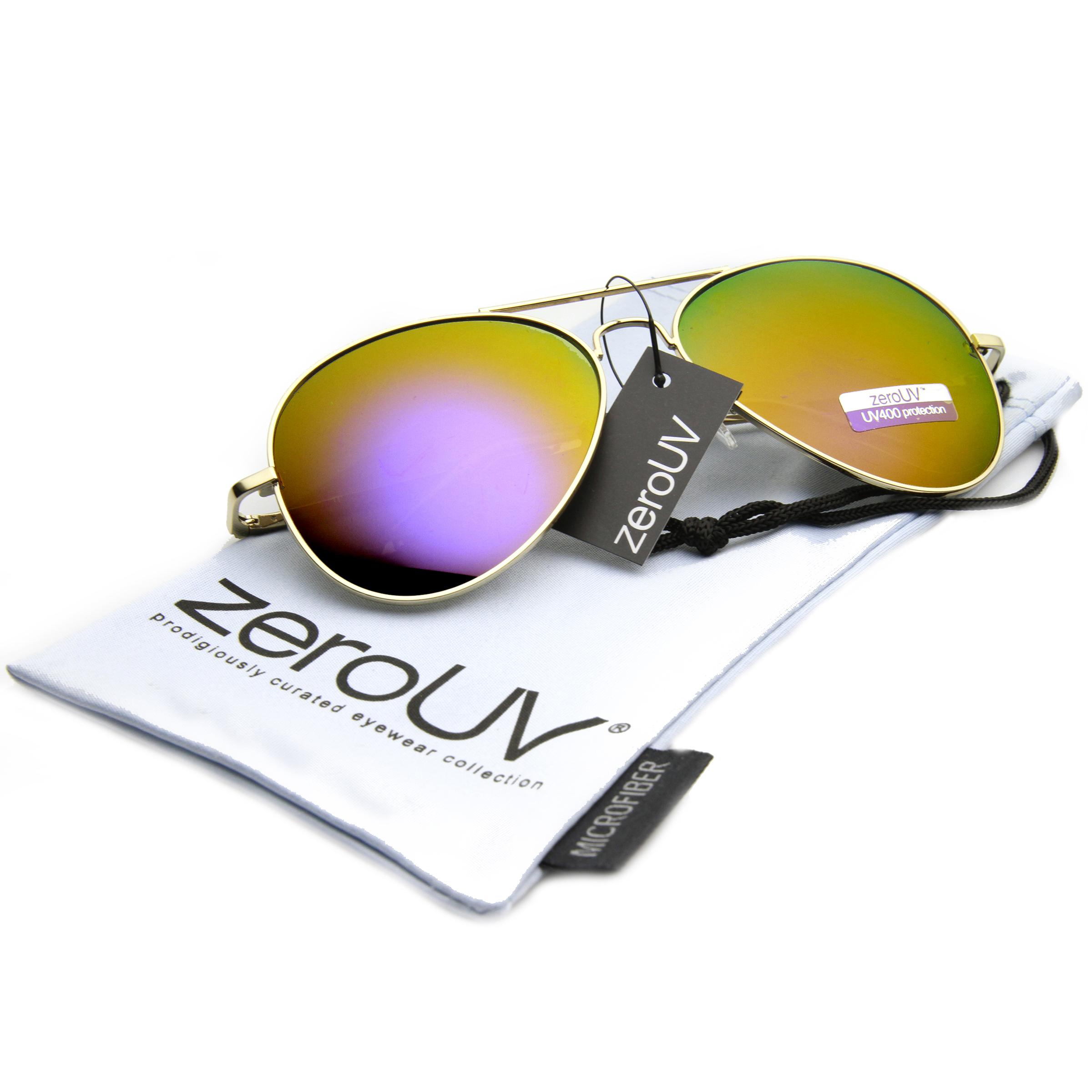 Premium-Full-Mirrored-Aviator-Sunglasses-w-Flash-Mirror-Lens
