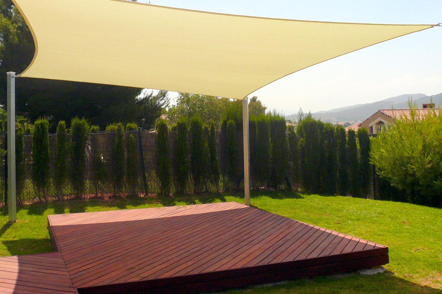 New Tan Sun Shade Sail Outdoor Square Canopy Cover Pool Patio 18 Feet  (18u0027x18u0027)