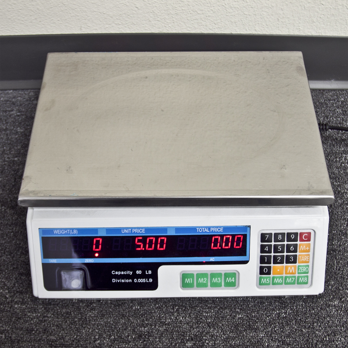 60 Lb Digital Produce Price Food Scale Market Weight