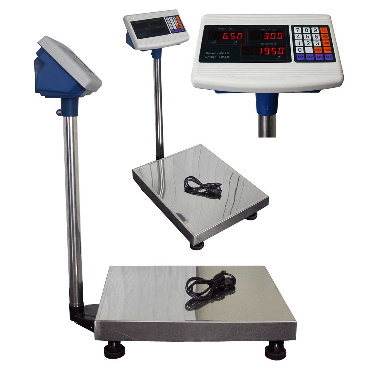 Computing scale 600lb weight digital floor platform for Scale floor