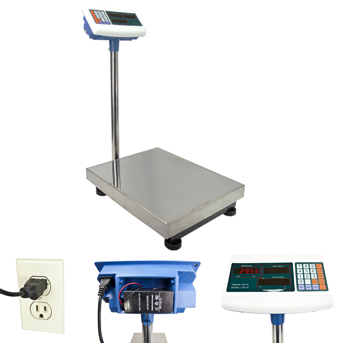Bench shipping weight digital counting floor scale for Scale floor
