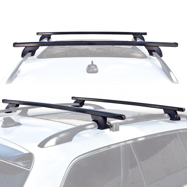 wagon suv universal roof rack cross bar rail pair car luggage rooftop