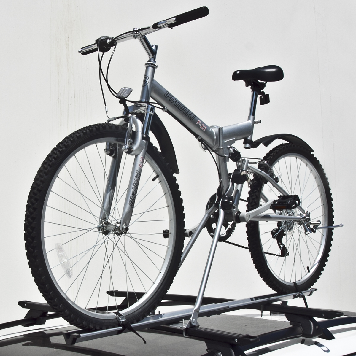 Bike Rooftop Upright NEW Roof Mount Road Beach Cruiser Bicycle CAR TOP Rack S