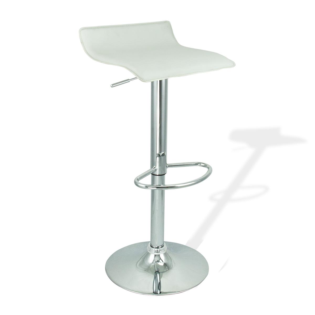 4 new modern bar stool white swivel bombo chair pub