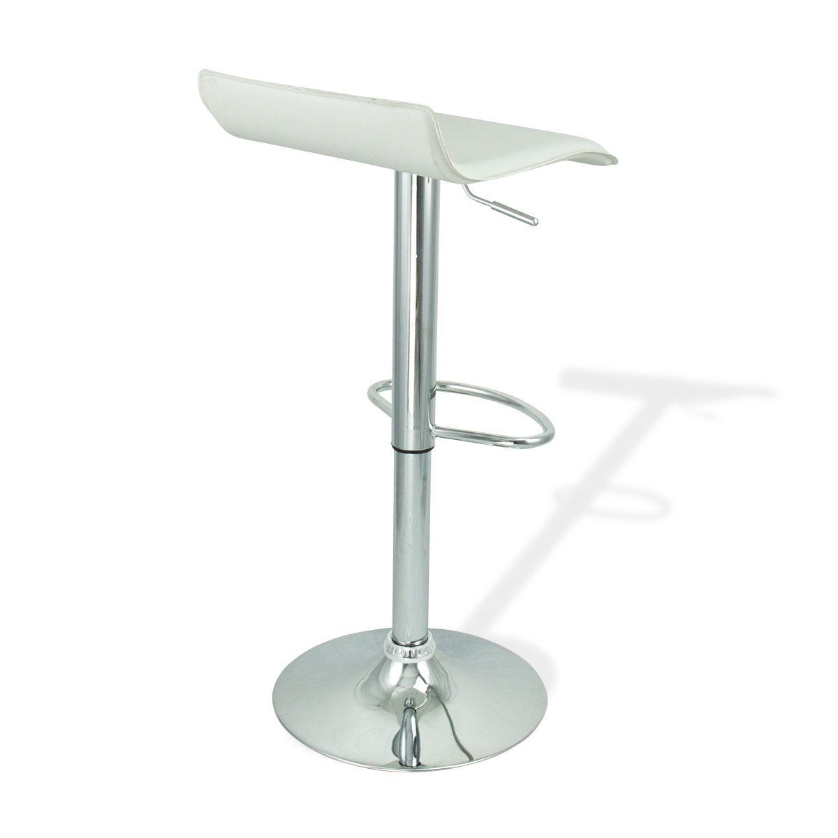 4 New White Swivel Seat Modern Bombo Chair Pub Bar Stool