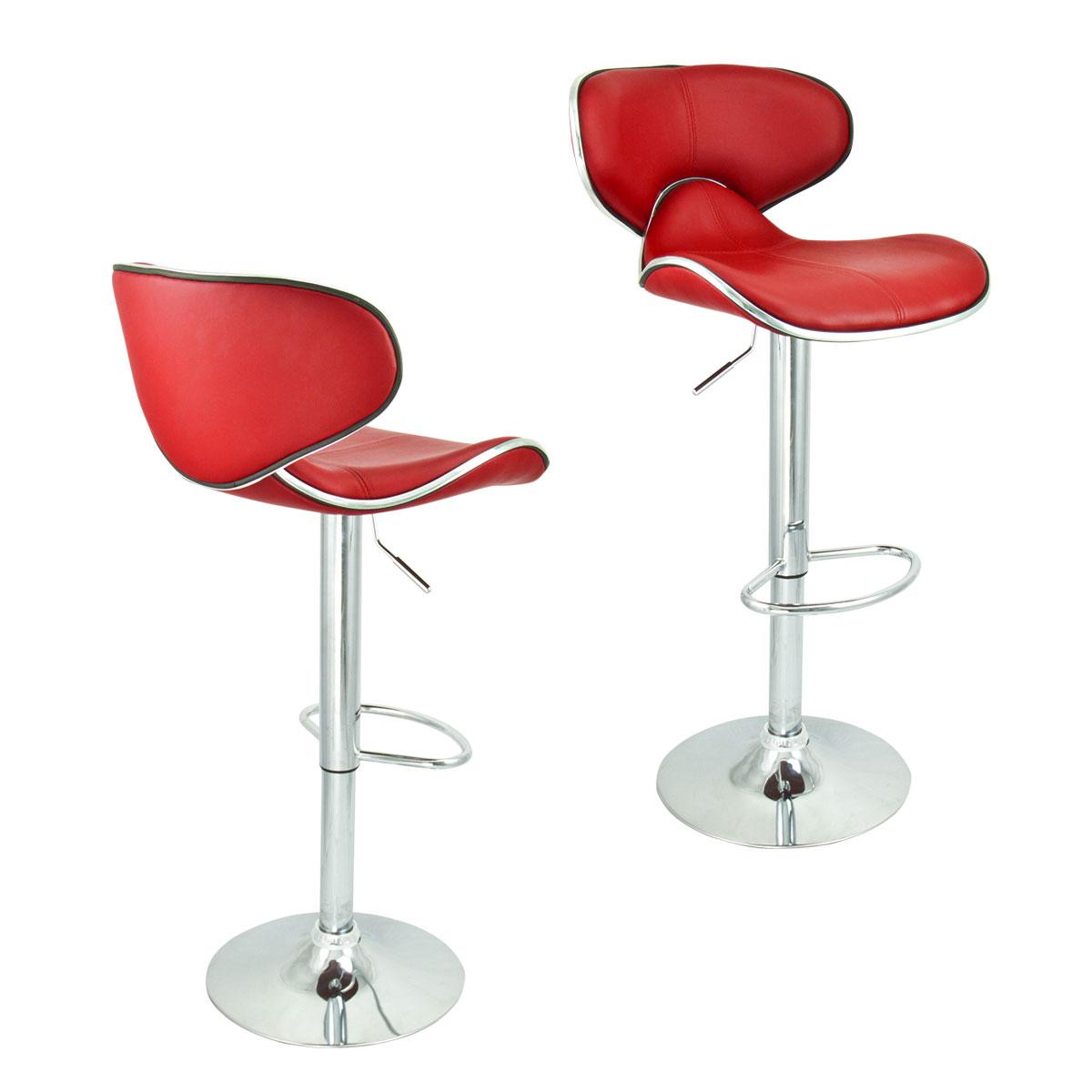 2 Swivel Red Bar Stool Elegant PU Leather Modern  : 37850ah from www.ebay.com size 1200 x 1200 jpeg 78kB