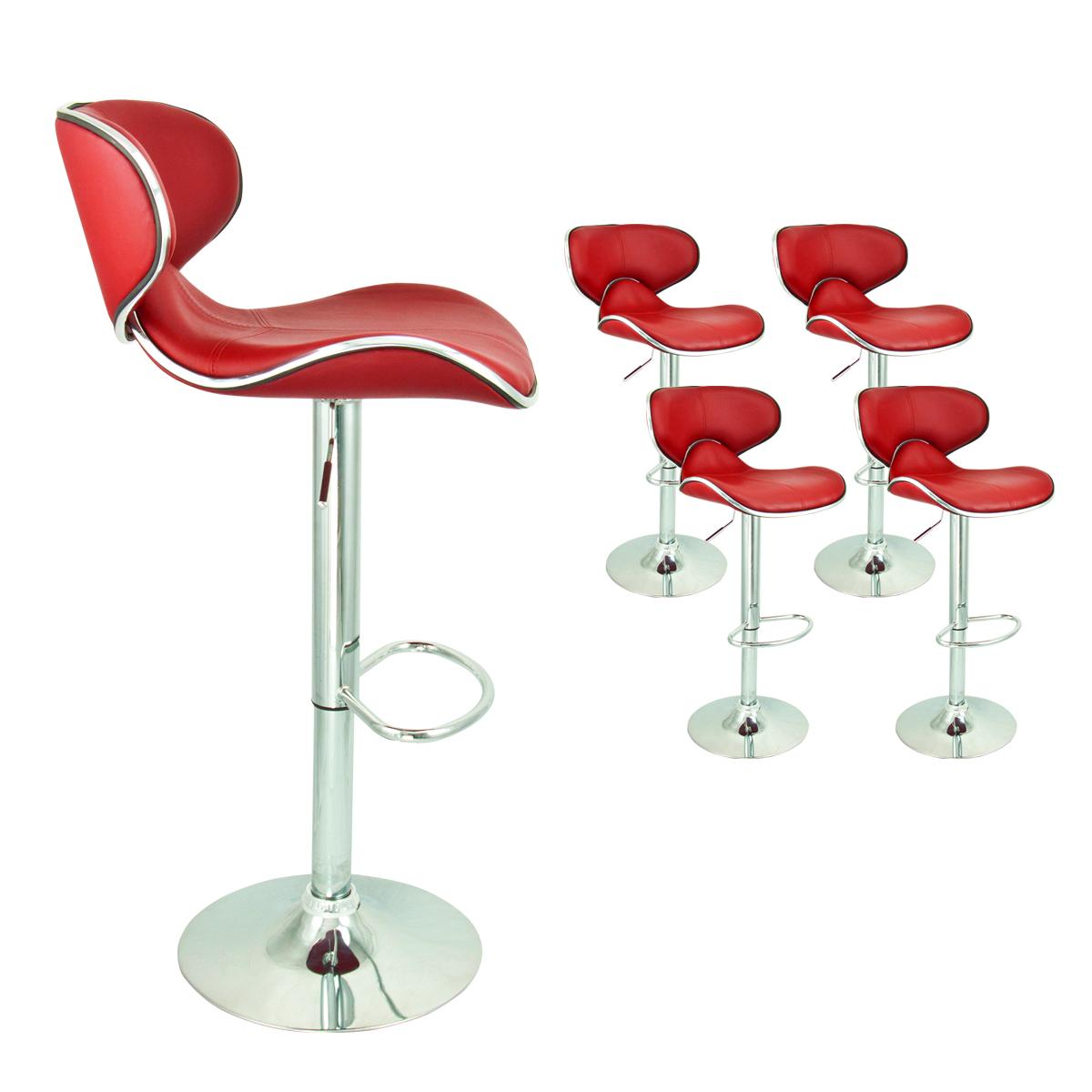 4 Red Modern Adjustable Barstool Swivel Elegant PU Leather  : 37851as from www.ebay.com size 1200 x 1200 jpeg 384kB