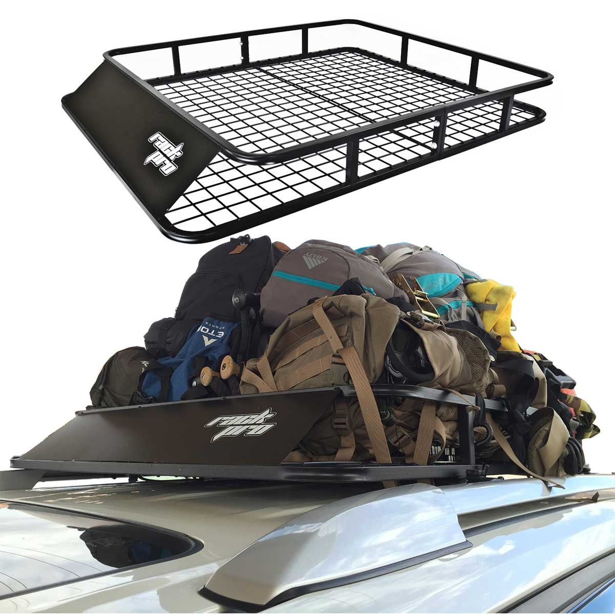 luggage carrier basket roof rack cargo car top universal 47 x40 la