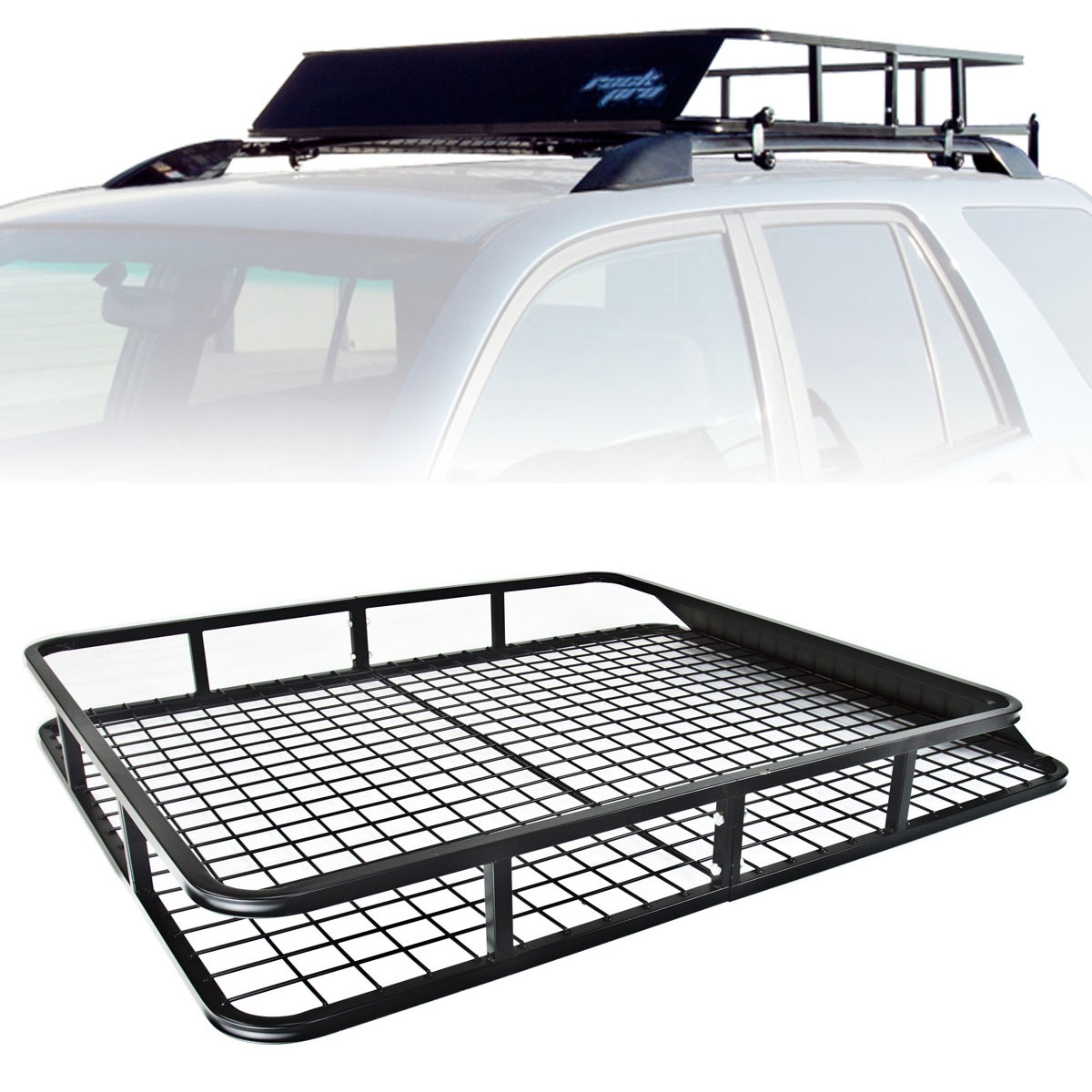 top basket universal roof rack cargo car luggage carrier traveling suv