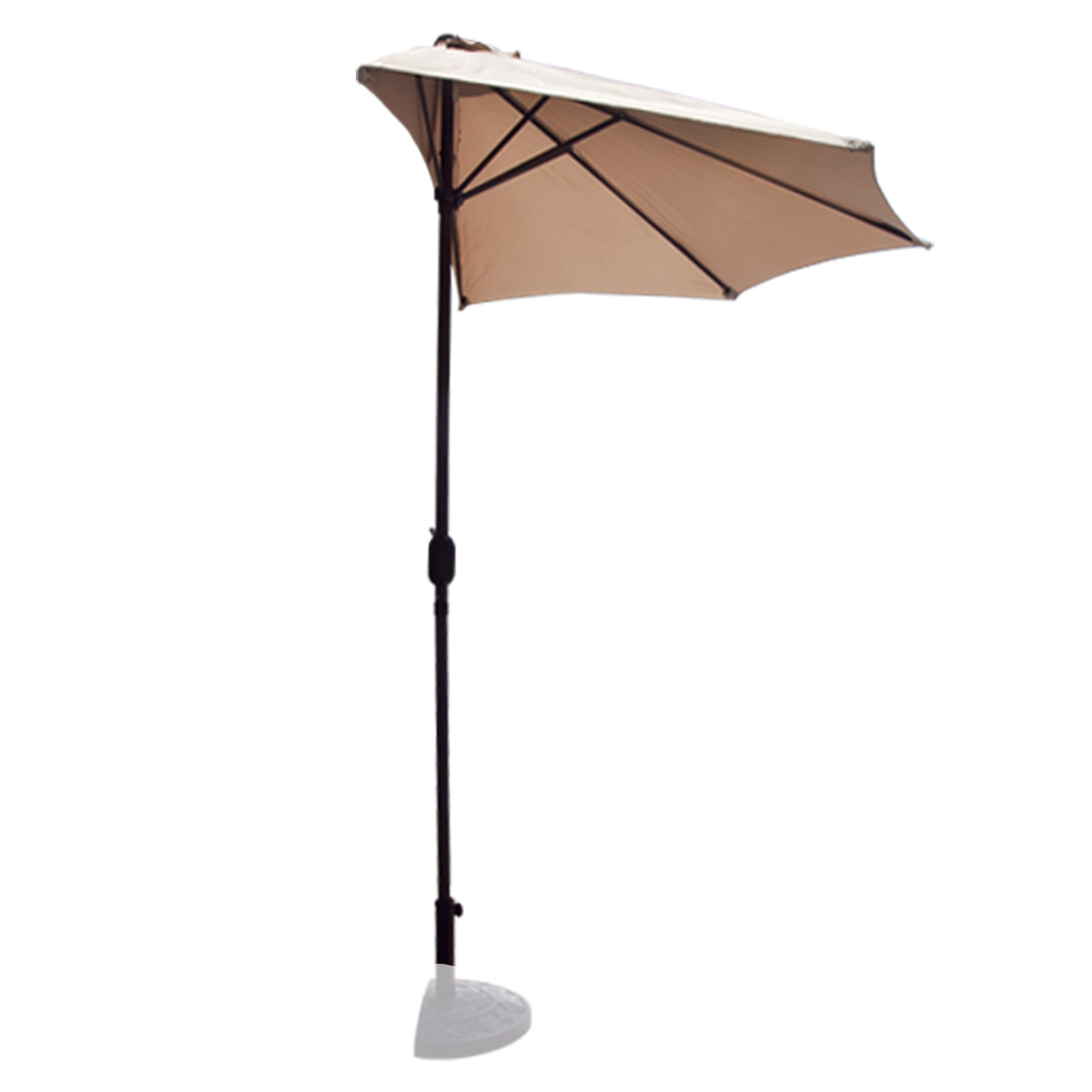 10 39 FT Half Patio Umbrella Feet Beige Outdoor Wall Balcony