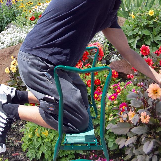 Garden stool kneeling pad gardening seat sit eva foam for Gardening kneeling stool