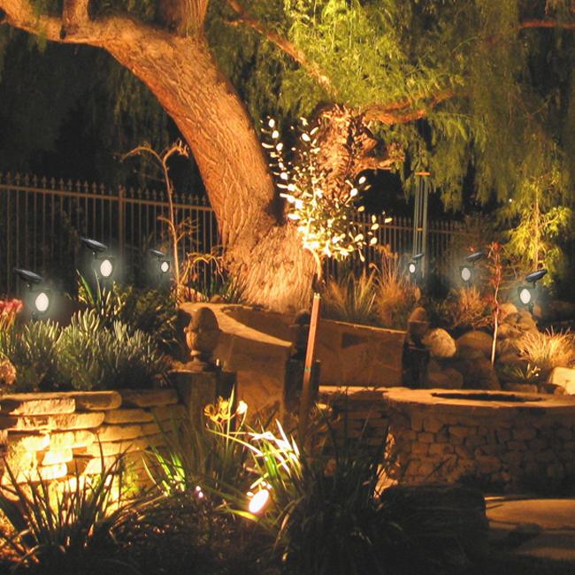 led 8x solar bright garden lamp spot light outdoor landscape spotlight. Black Bedroom Furniture Sets. Home Design Ideas
