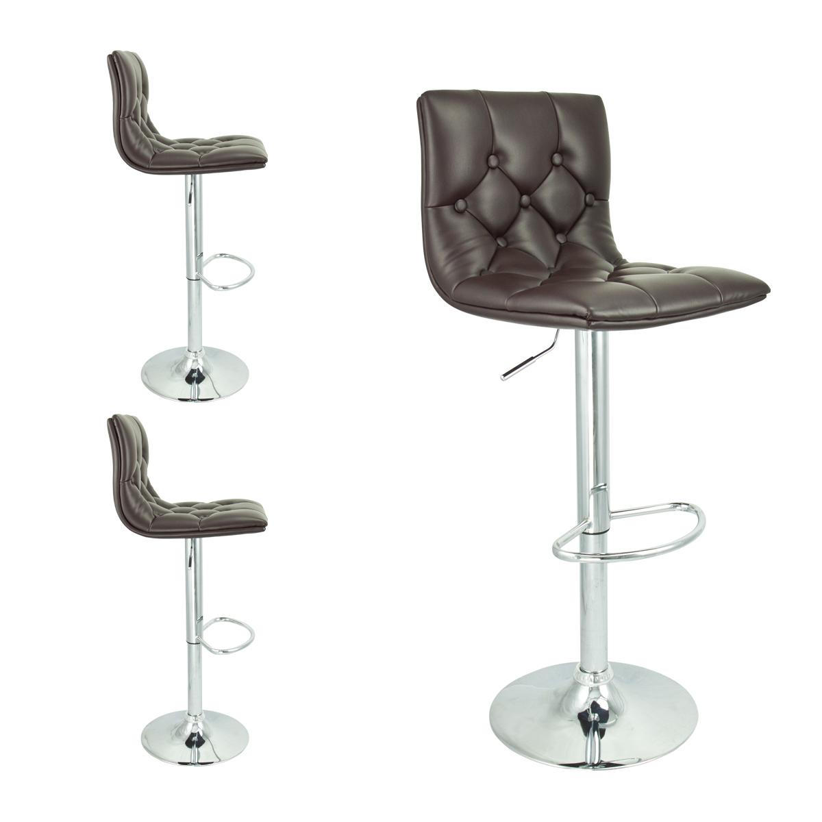 2 Barstools Swivel Seat Brown PU Leather Modern Adjustable  : 39045ac from www.ebay.com size 1200 x 1200 jpeg 293kB