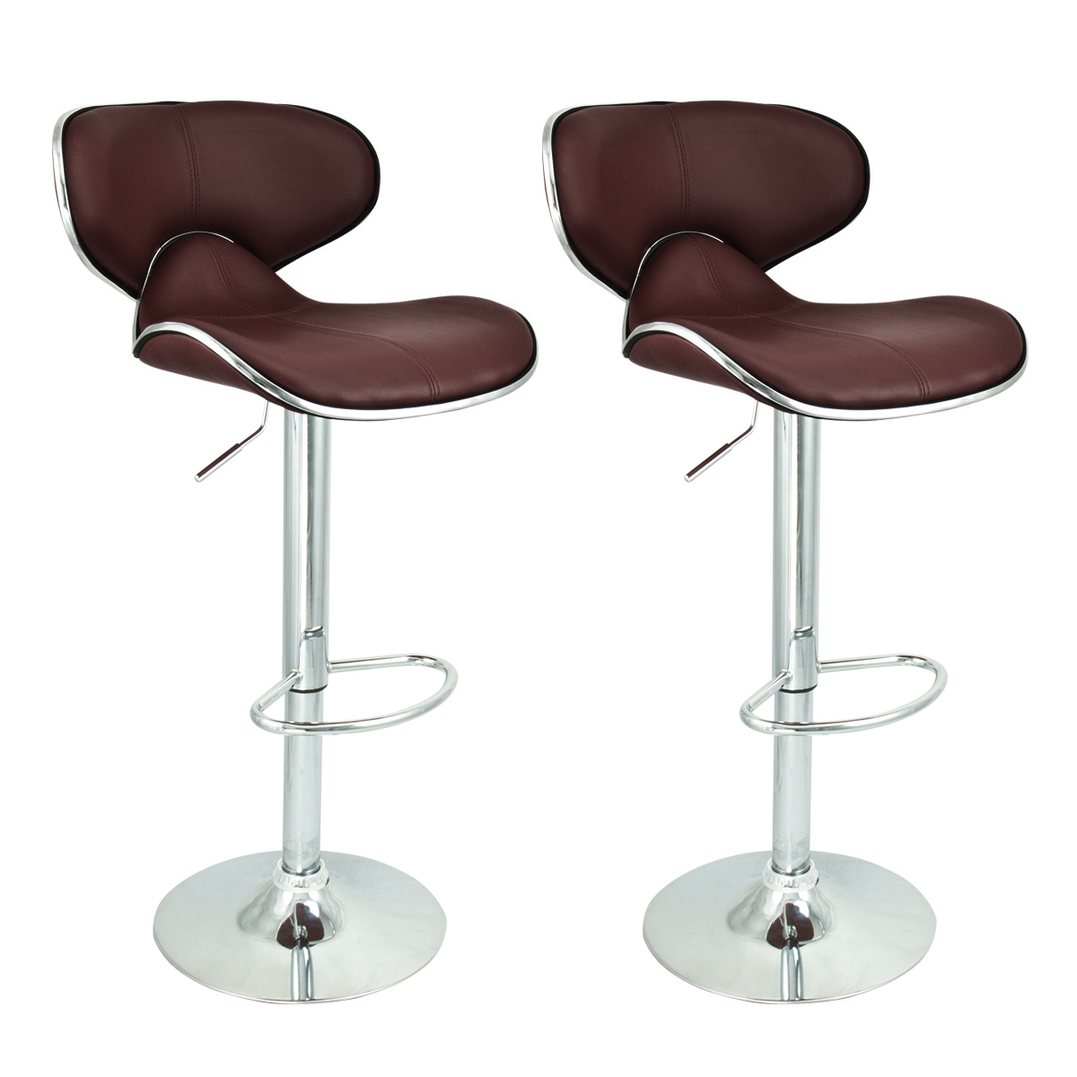 2 Modern Barstool Swivel Leather Adjustable Hydraulic Bar Stool Kitchen Chairs Ebay