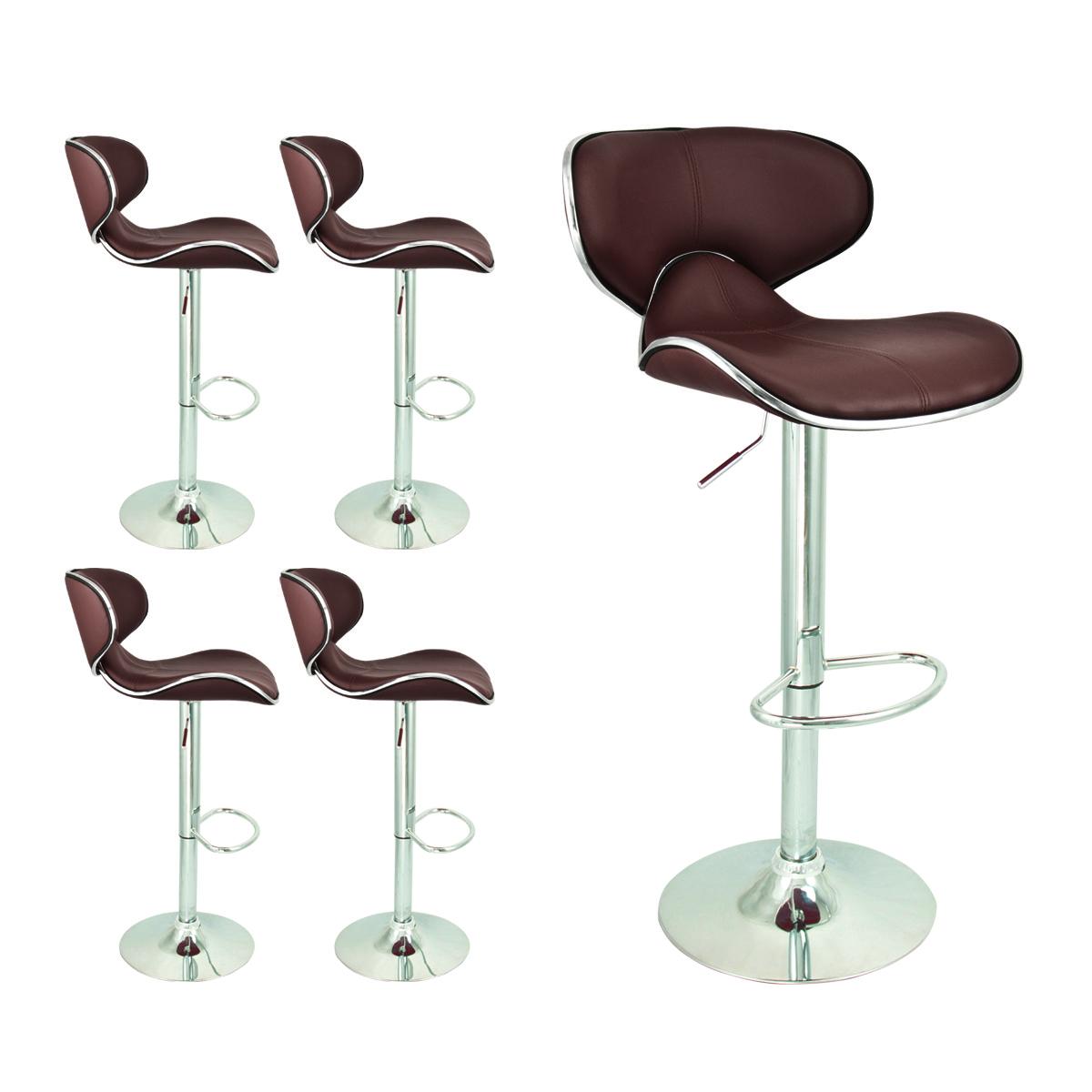 Modern Brown Barstool 4 Swivel Elegant PU Leather  : 39077ac from www.ebay.com size 1200 x 1200 jpeg 357kB