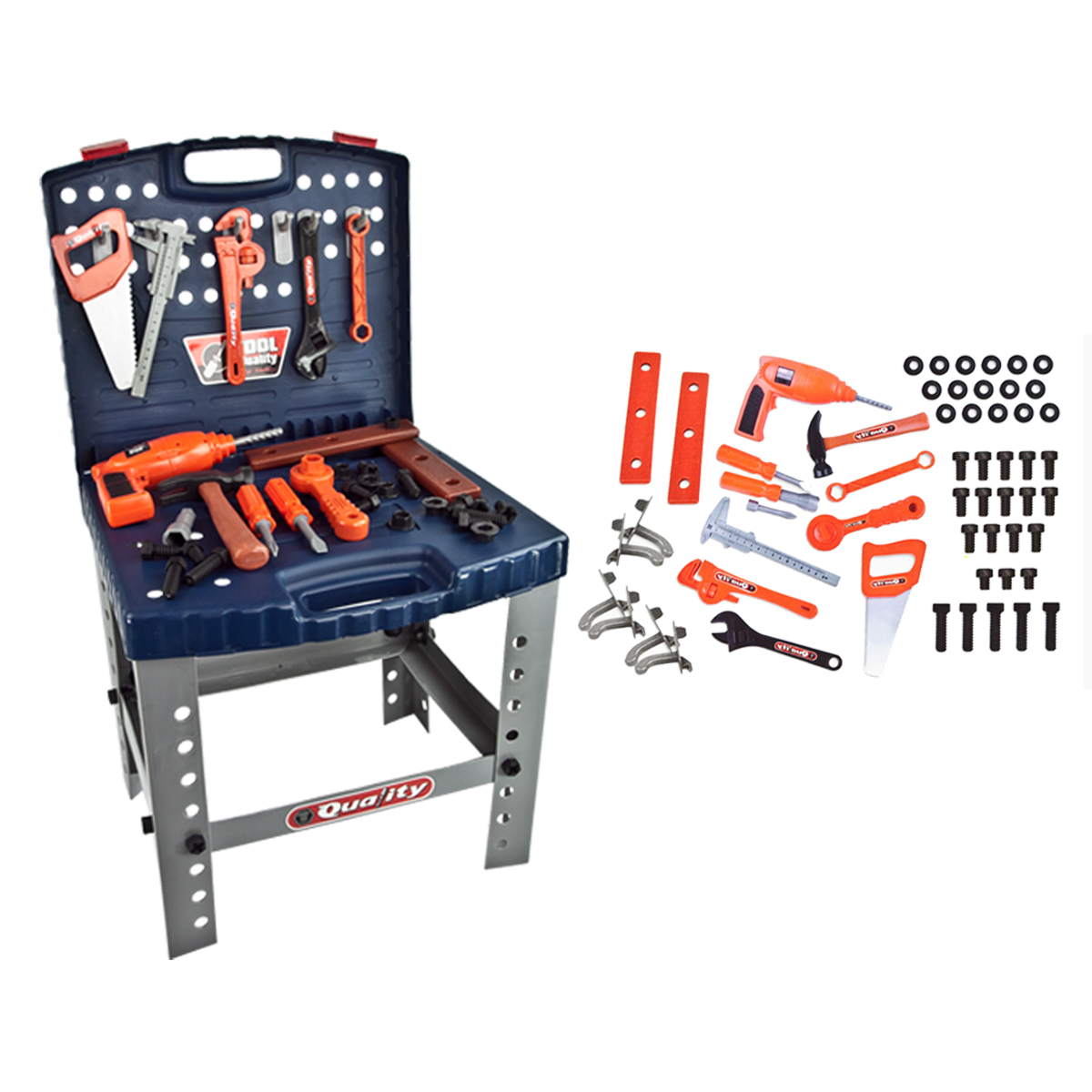 Toy Tool Sets For Boys : Deluxe toy workshop tools set childrens boys kids pretend