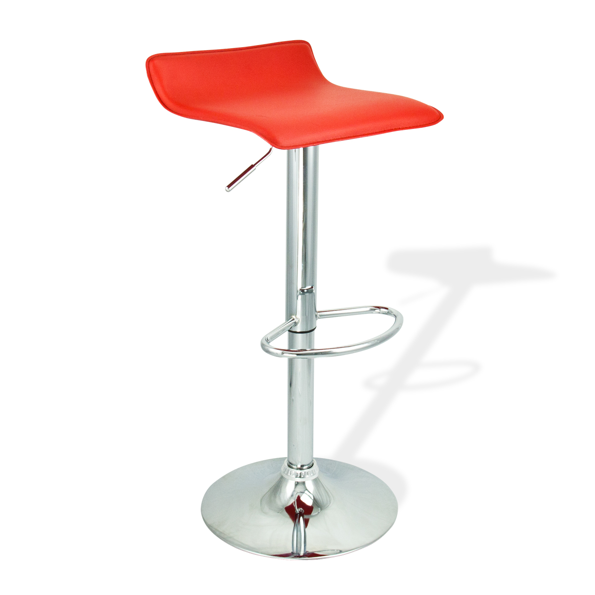 4 new modern bar stool red swivel bombo chair pub barstools