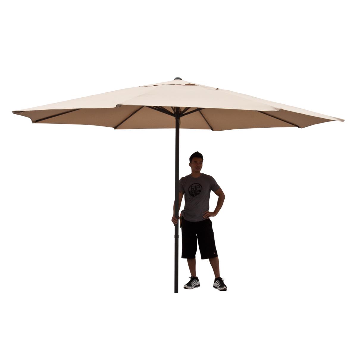 Patio Umbrella 13 FT Feet Beige Tent Deck Gazebo