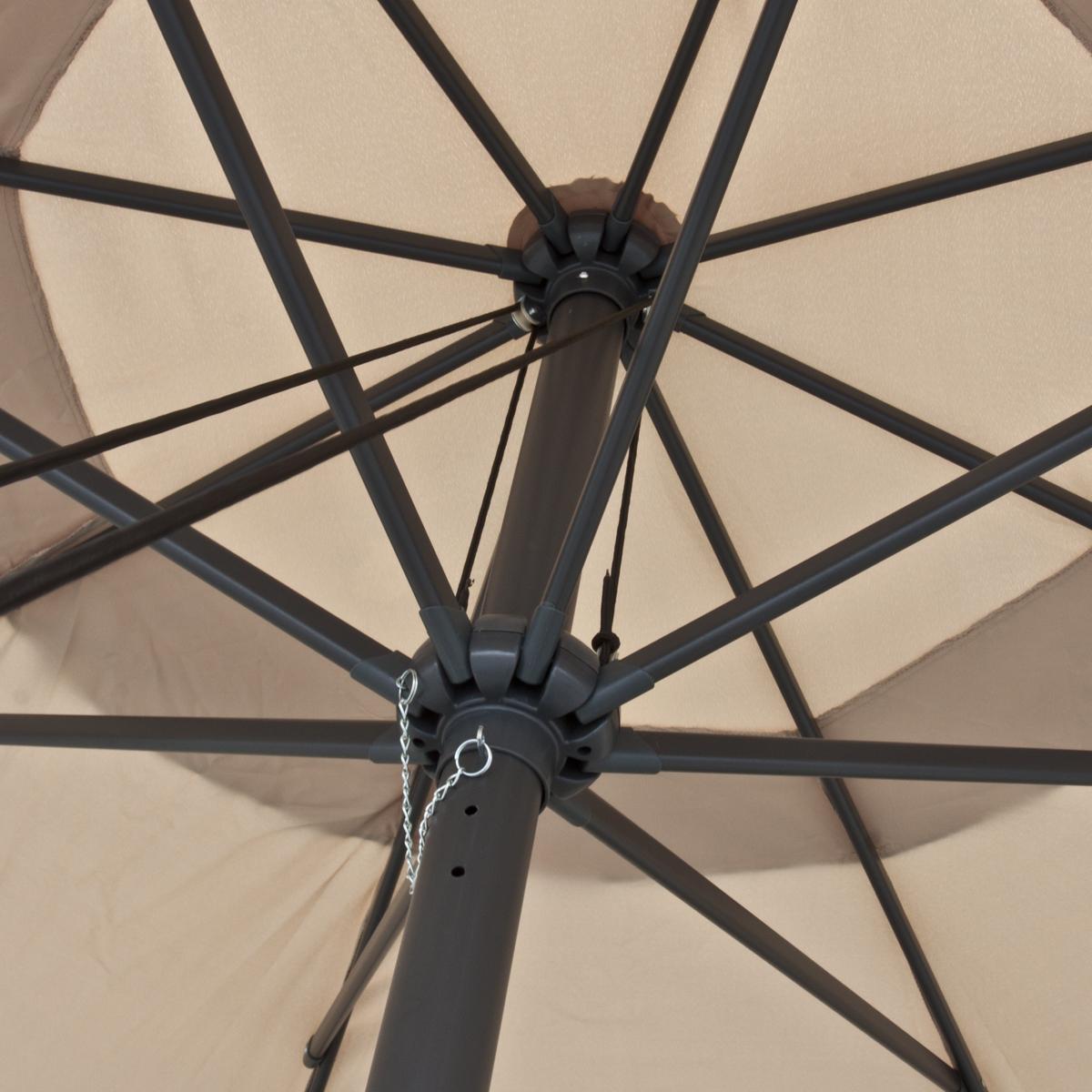 large patio umbrella 13u0027 ft feet beige tent deck gazebo sun shade cover market - Large Patio Umbrellas