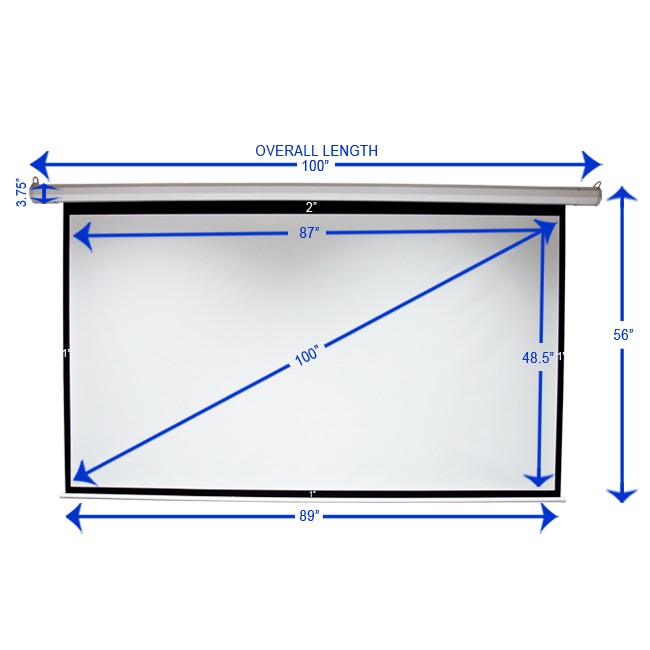100 16 9 Motorized Electric Projection Screen Automatic