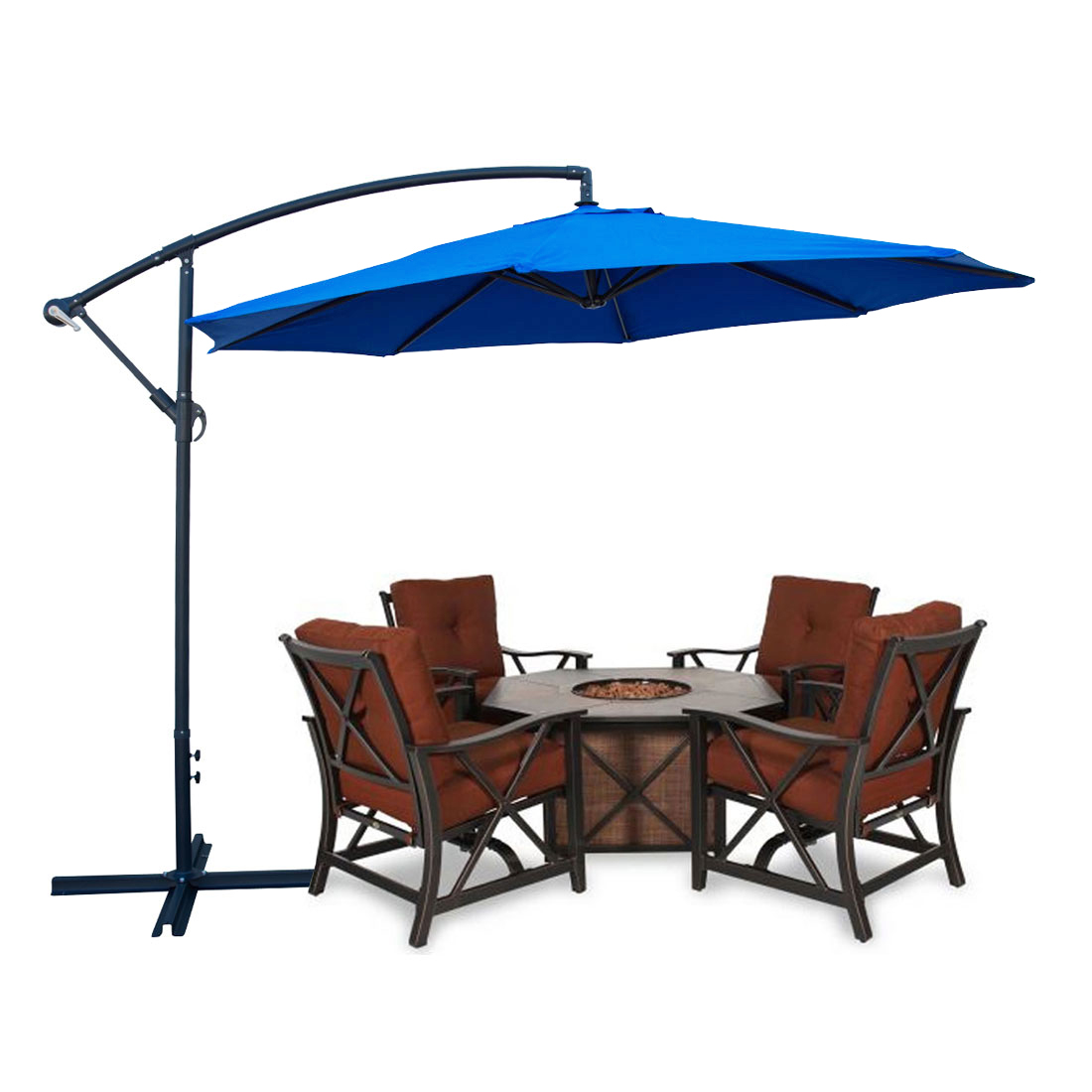 blue color patio umbrella offset 10 39 ft feet hanging umbrella outdoor