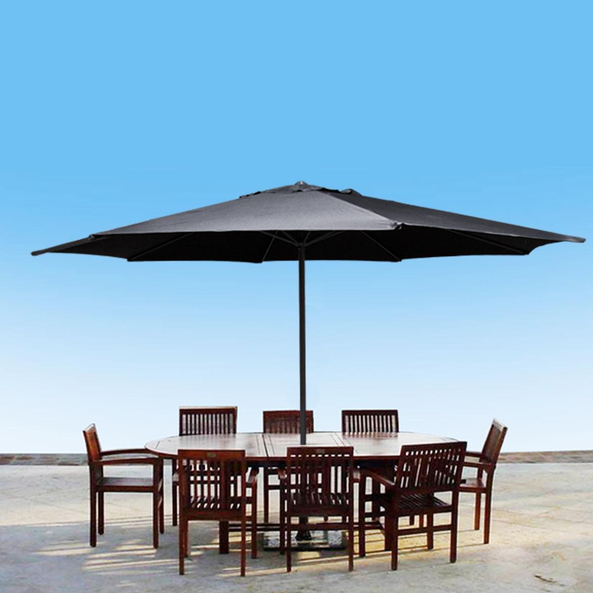 13 39 ft feet beige aluminum outdoor patio umbrella deck gazebo sun shade black ebay. Black Bedroom Furniture Sets. Home Design Ideas