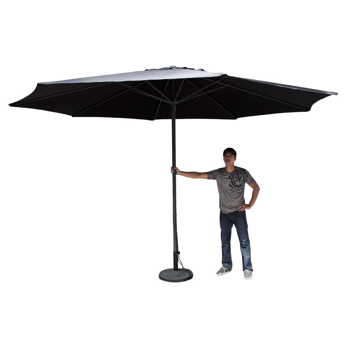 13 39 ft feet beige aluminum outdoor patio umbrella deck