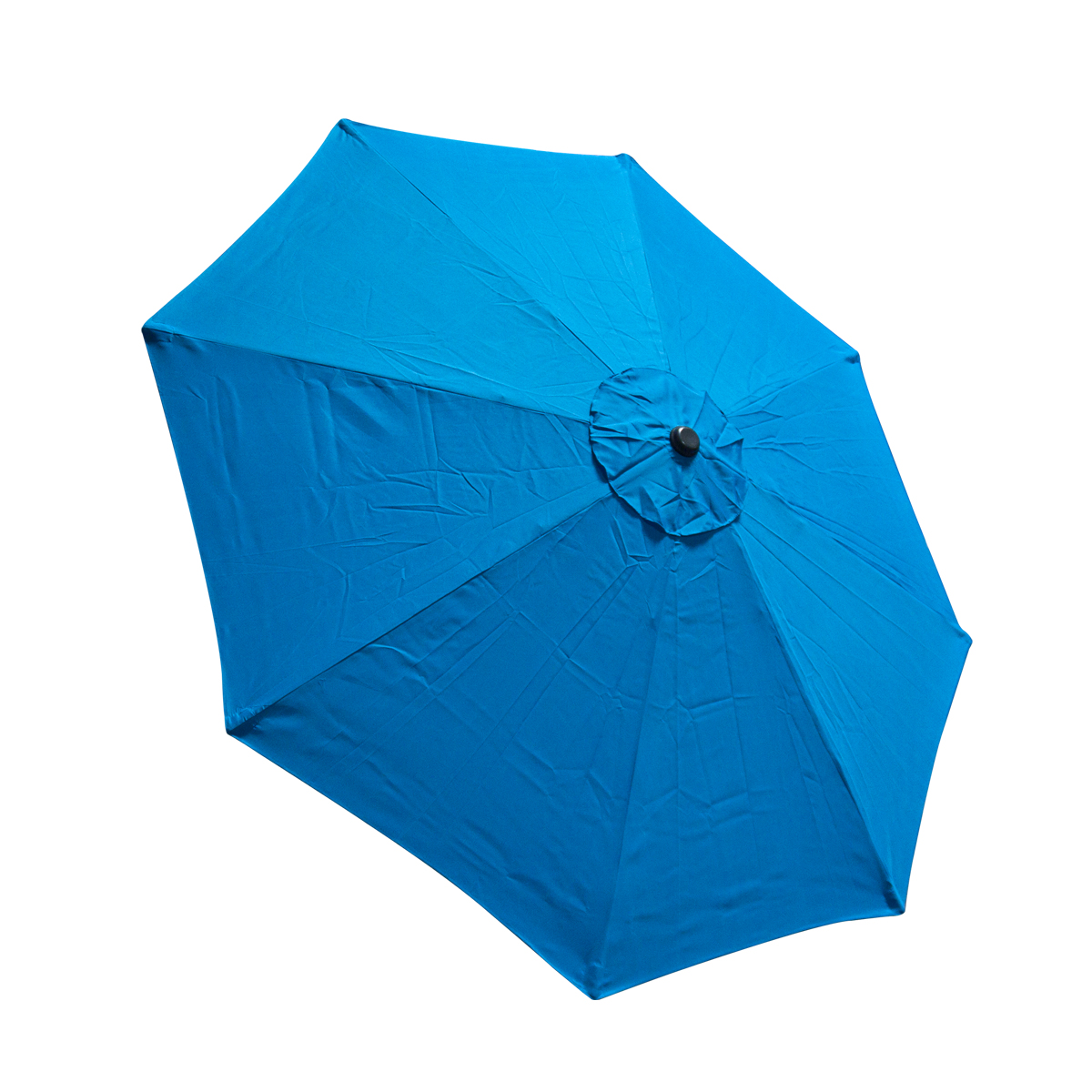 Patio Umbrella Replacement Canopy: 9 FT 8 Ribs Replacement Umbrella Cover Canopy Blue Top