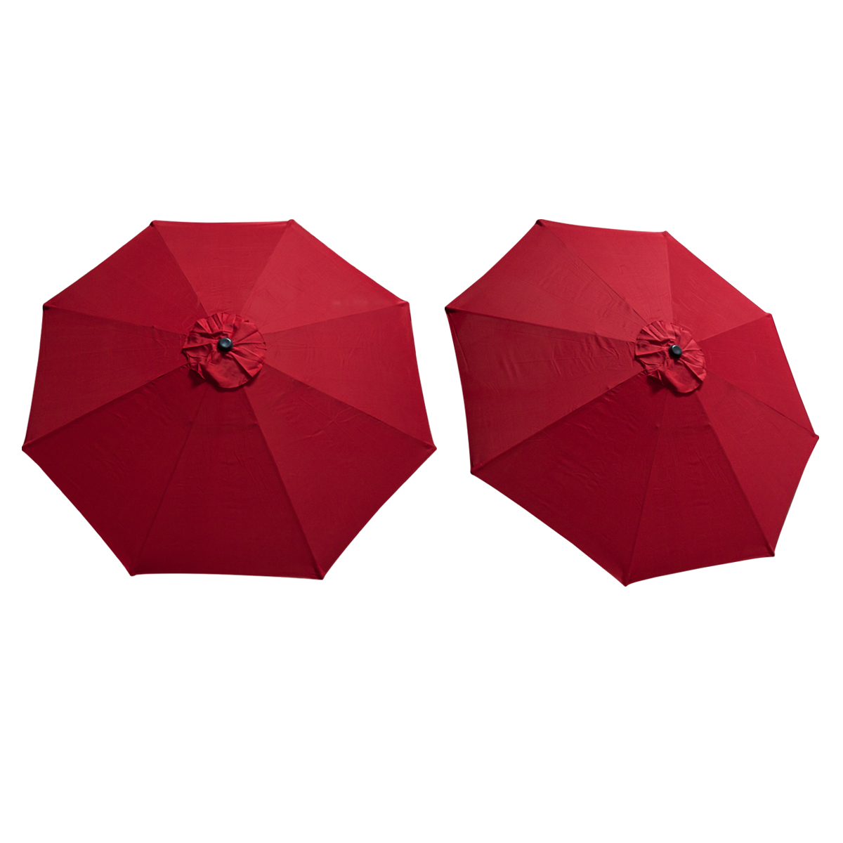 Patio Umbrella Material Replacement: Replacement Cover Canopy 9 FT 8 Ribs Umbrella Red Top