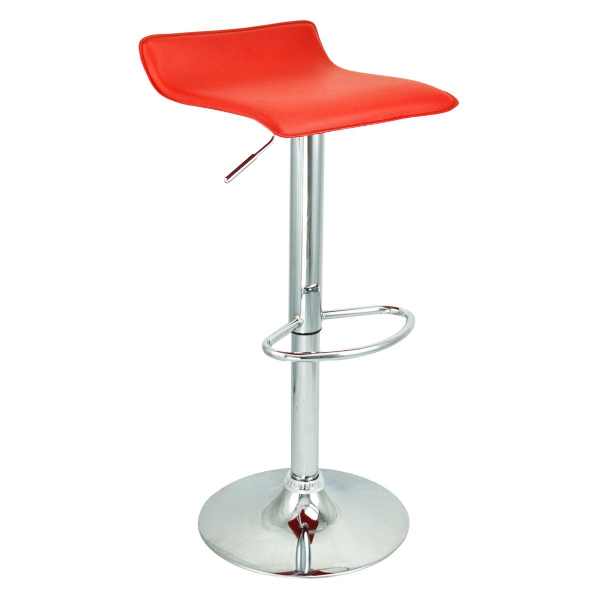 6 New Modern Bar Stool Red Swivel Bombo Chair Pub