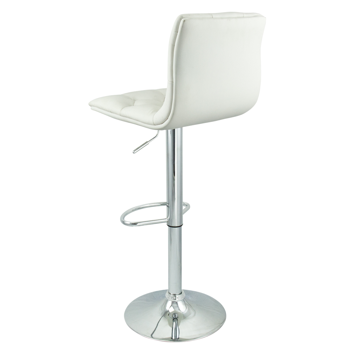 6 Adjustable Hydraulic Barstool Swivel Bar Stool White