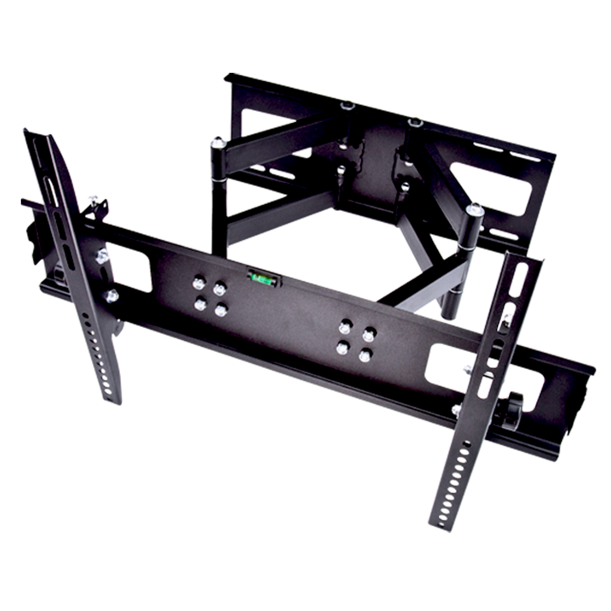 swivel arm 32 60 lcd led tv wall mount full motion tilt dvd stand 2 tier ebay. Black Bedroom Furniture Sets. Home Design Ideas