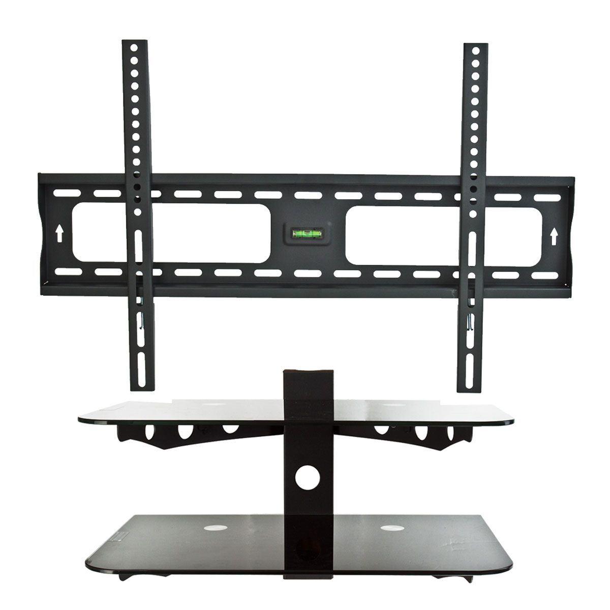 flat tv wall mount bracket 30 60 component shelf 2. Black Bedroom Furniture Sets. Home Design Ideas