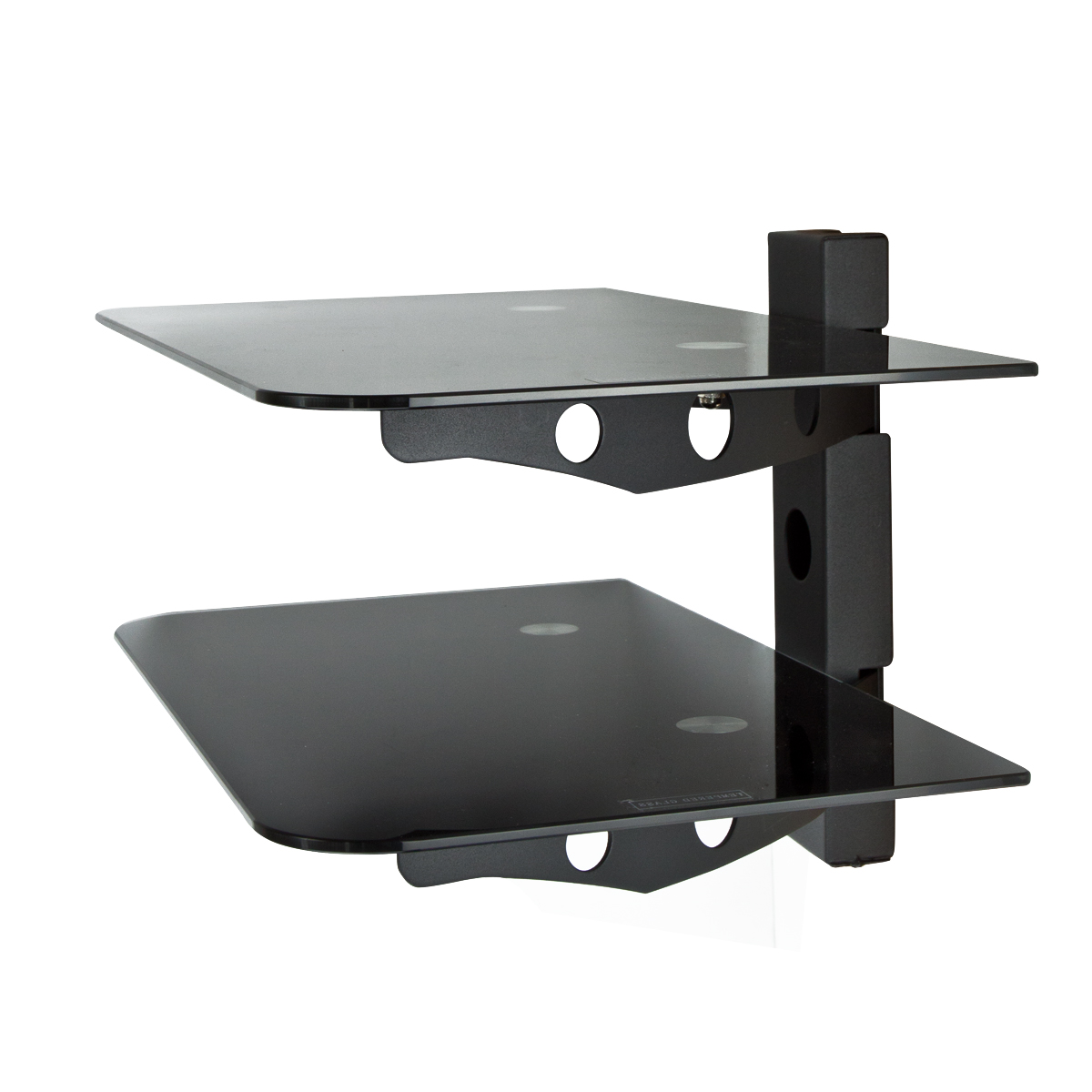 component shelf 2 tier av dvd stand 30 60 flat tv. Black Bedroom Furniture Sets. Home Design Ideas