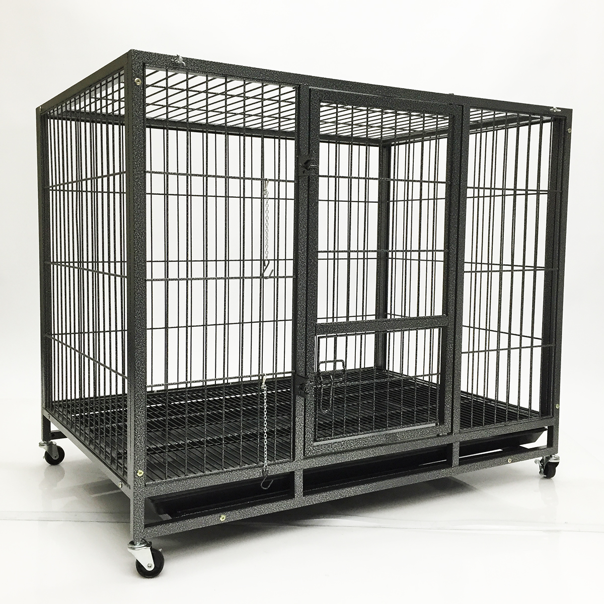 Portable Dog Kennels : Quot dog kennel wheels portable pet puppy carrier crate