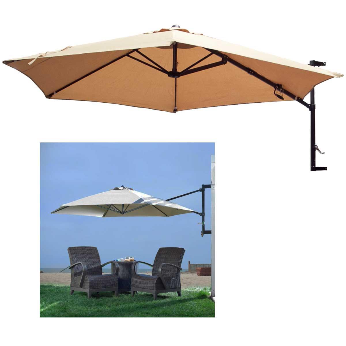 10 Patio Umbrella Wall Mount Offset Garden Outdoor Sun