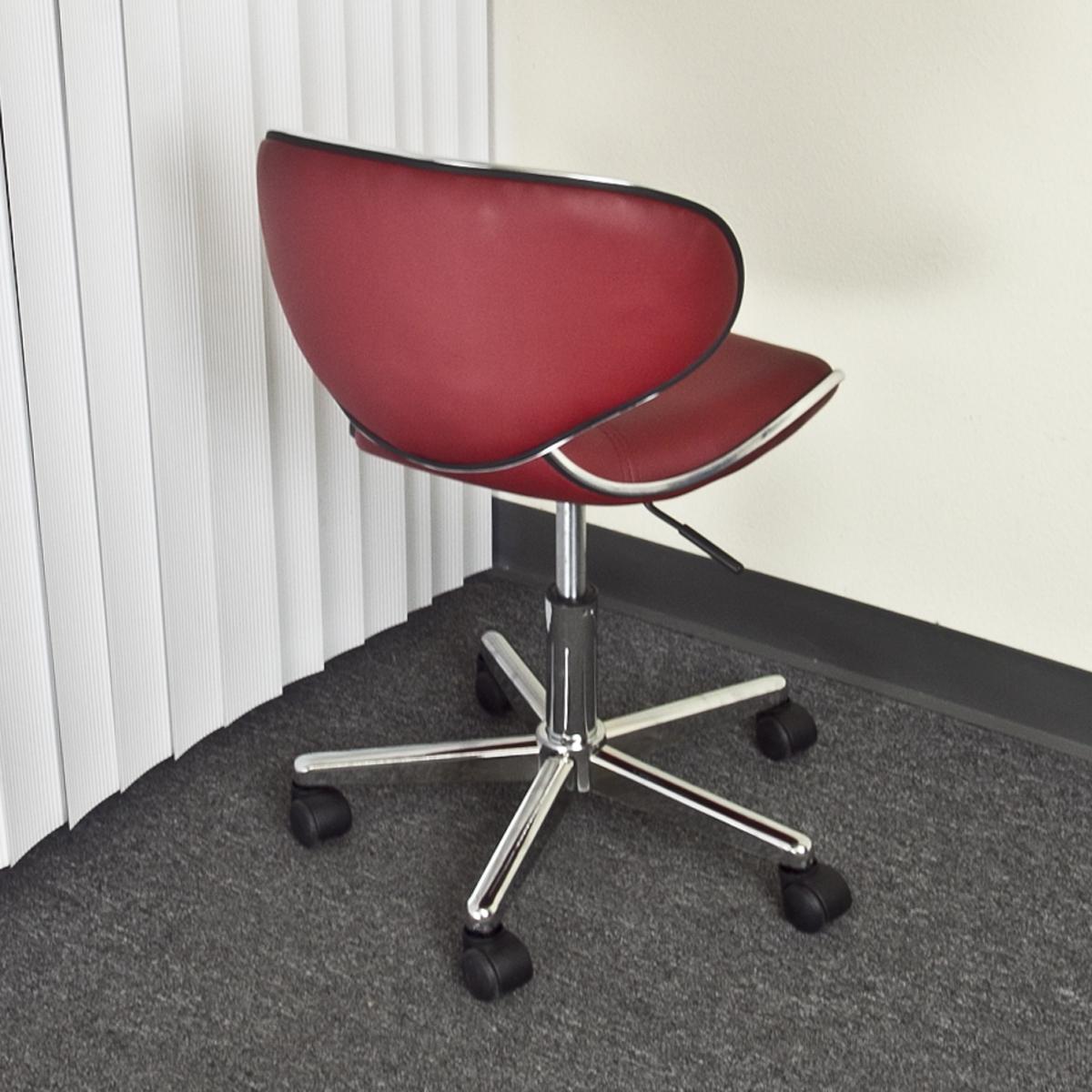 new leather hydraulic salon chair stool spa beauty burgundy red tattoo