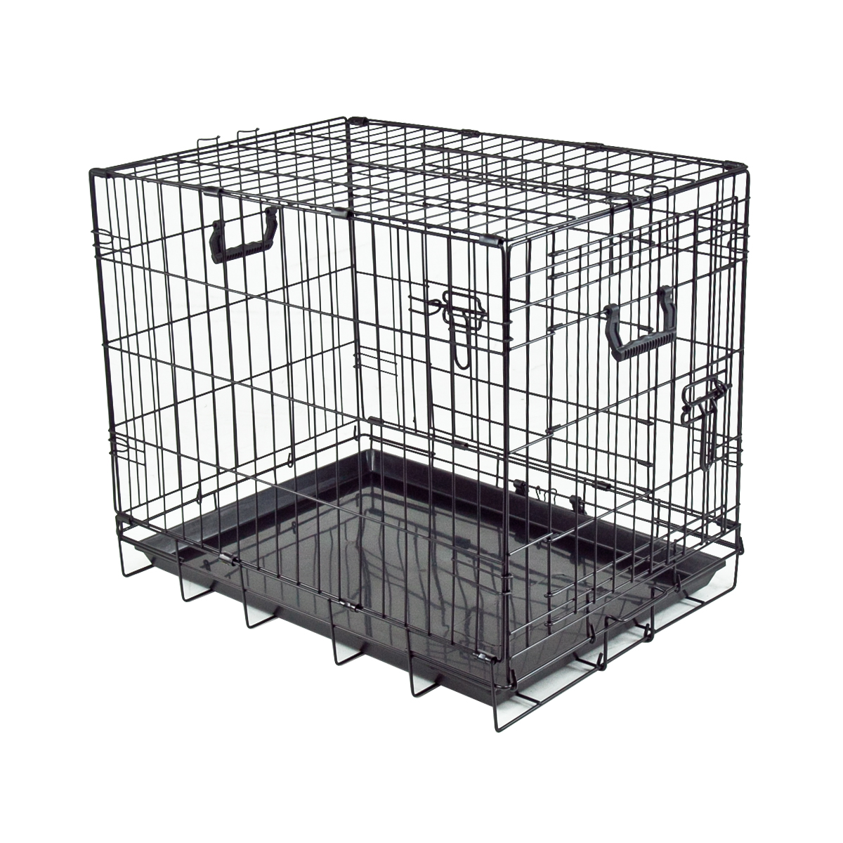 Portable Dog Kennels : Dog cage crate kennel pet cat metal folding portable puppy