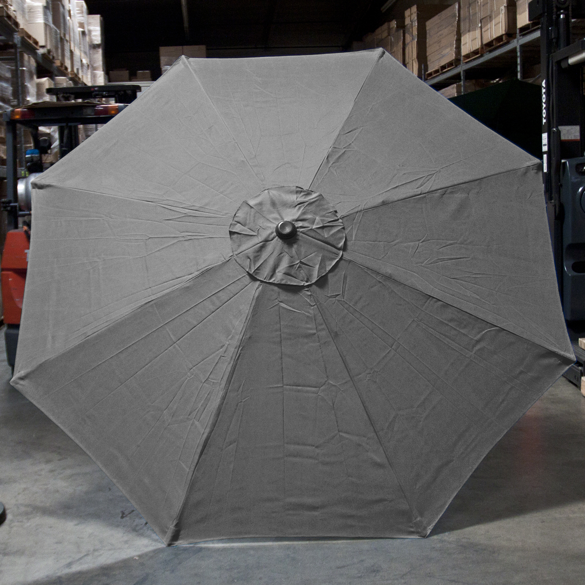 new patio market outdoor 9 ft 8 ribs umbrella cover canopy grey replacement top ebay. Black Bedroom Furniture Sets. Home Design Ideas