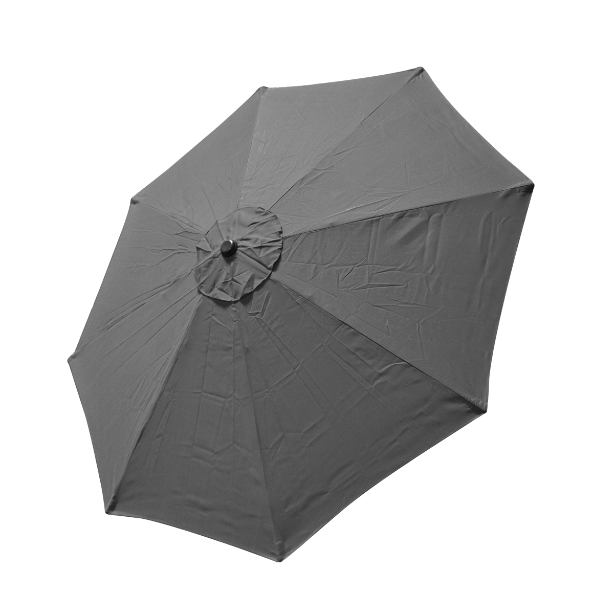 Patio Umbrella Material Replacement: Replacement Cover Canopy 9 FT 8 Ribs Umbrella Grey Top