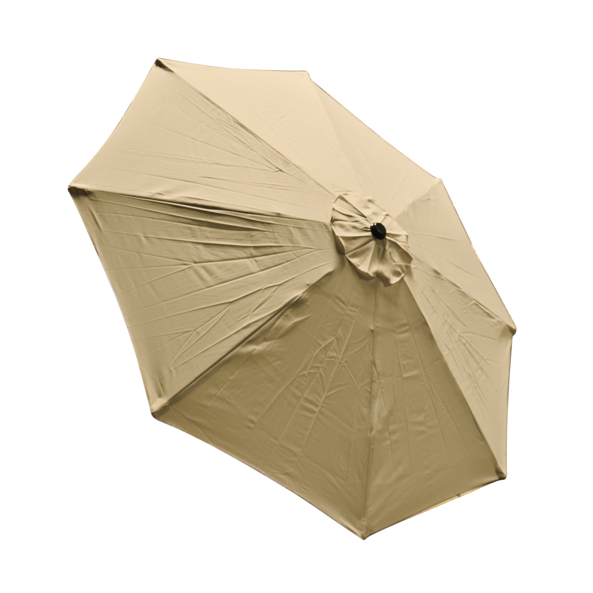 Patio Umbrella Replacement Canopy: 9 FT 8 Ribs Replacement Umbrella Cover Canopy Tan Top