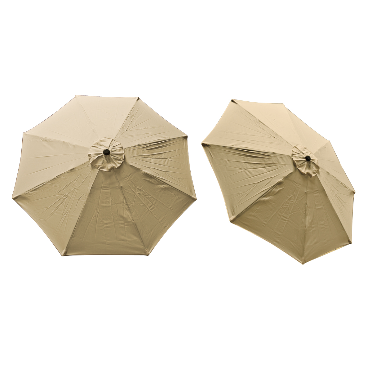 Patio Umbrella Replacement Canopy: Replacement Cover Canopy 9 FT 8 Ribs Umbrella Tan Top