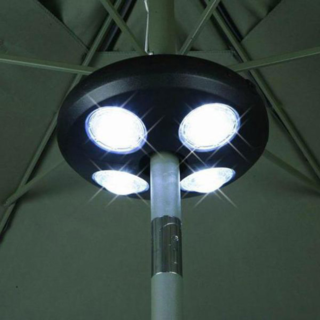 apontus new umbrella pole light outdoor patio yard lighting decor 24 white led