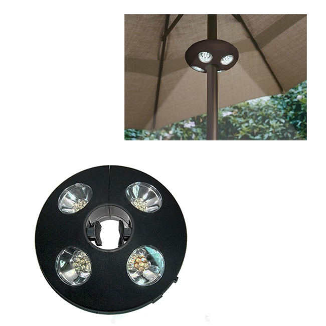 patio umbrella cordless camping night table led white ufo