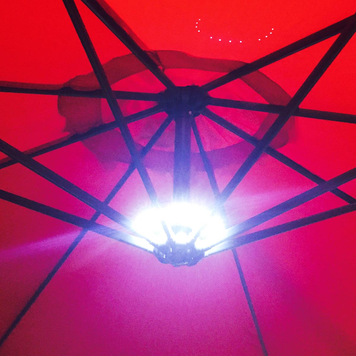 Led Lights For Patio Umbrella : Sunshade Umbrella Patio Outdoor LED Night Light Cordless Table Mount