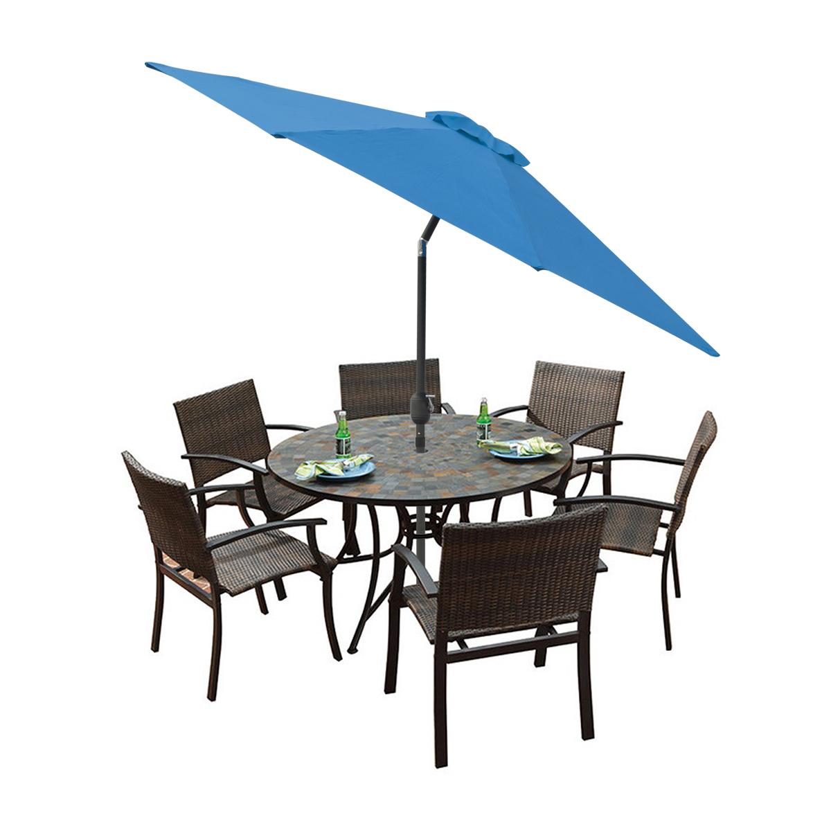 9 39 ft feet patio tilt umbrella crank market aluminium pool for 9 ft garden pool
