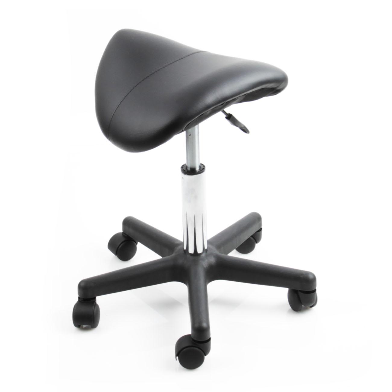 Black Saddle Salon Stool Beauty Wide Medical Chair Facial