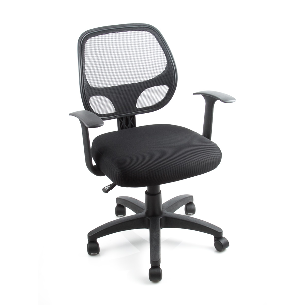 Mid Back Black Office Chair Padded Fabric Mesh Home Computer Desk Ergonomic