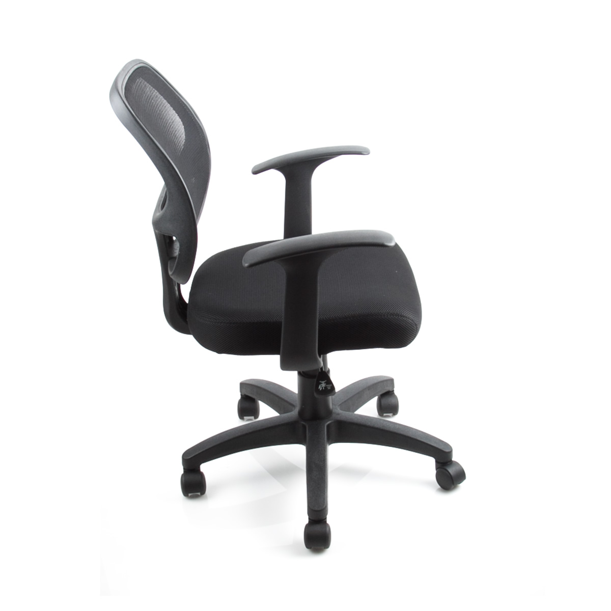6 Mid Back Black Office Chair Padded Fabric Mesh Home Computer Desk Ergonomic